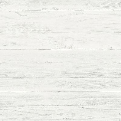Brewster Home Fashions Reclaimed Cream White Washed Boards Wallpaper 2701-22307