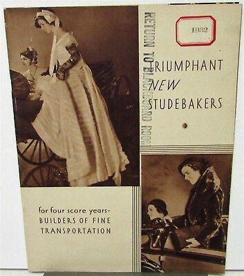 1932 Studebaker Sales Brochure President Commander Dictator Six Models Original
