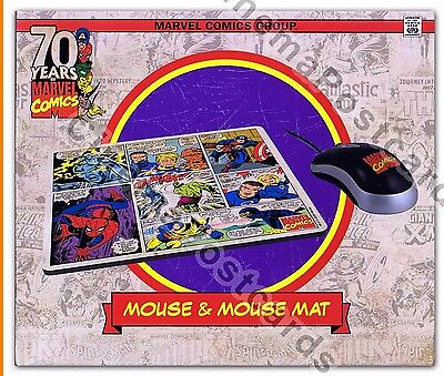 Marvel Comic USB Mouse Mat Pad Box Set Captain America Spiderman Avengers X-Men
