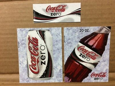 Coca Cola Collectible Early Coke Zero Vendor Lables.