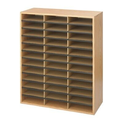 Safco 36-Section Wood/Corrugated Literature Organizer 9403MO