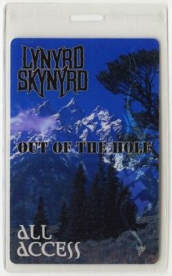 Lynyrd Skynyrd authentic 1996 Laminated Backstage Pass Out of the Hole Tour AA