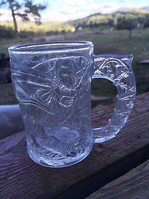 1995 Batman Forever McDonalds Glass Cup Mug DC Comics Collectible
