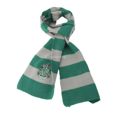 Harry Potter Vouge Slytherin House Cosplay Knit Wool Costume Scarf Wrap