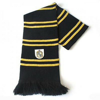 Harry Potter Hufflepuff Thicken Wool Scarf Soft Warm Costume Cosplay US SELLER