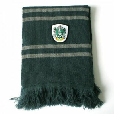 Harry Potter Slytherin Thicken Wool Scarf Soft Warm Costume Cosplay US SELLER
