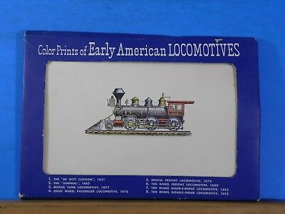 Color Prints of Early American Locomotives 1953 (16) Prints 9x6