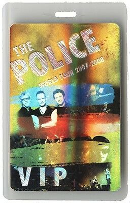 The Police authentic 2007 concert Laminated Backstage Pass Reunion Tour Sting