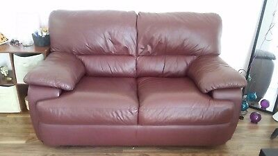 Burgundy Leather Loveseat (Virtually NEW!!)