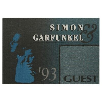 Simon & Garfunkel authentic 1993 tour Satin cloth guest Backstage Pass