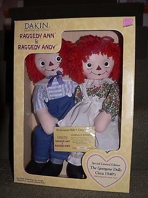 Raggedy Ann & Andy Dakin Signature Collection - Georgene Dolls - Limited Edition