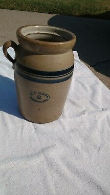 W.D. Suggs Smithville, Miss. #2 stoneware Butter Churn.