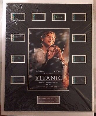 2012 Titanic 3D Movie - 35mm Film Cell Limited Edition Mount (8x10); w/10 Cells
