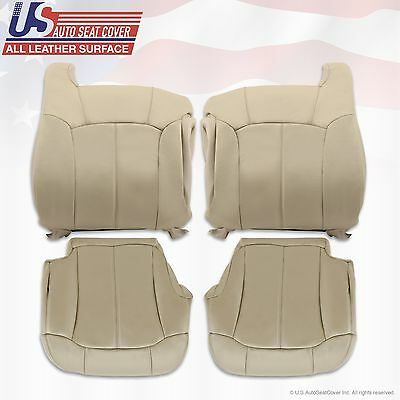 2000 2001 2002 Chevy Tahoe Suburban Replacement leather seat cover Light tan 922