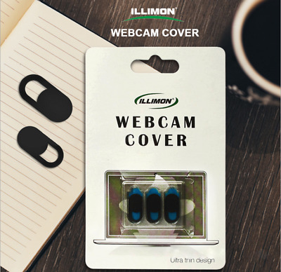 3X Webcam Cover 0.03in Ultra Thin 3 Pack, iRush Web Camera Cover for Laptop, PC,