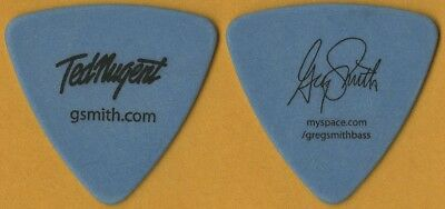 Ted Nugent Greg Smith authentic 2008 concert tour signature stage Guitar Pick