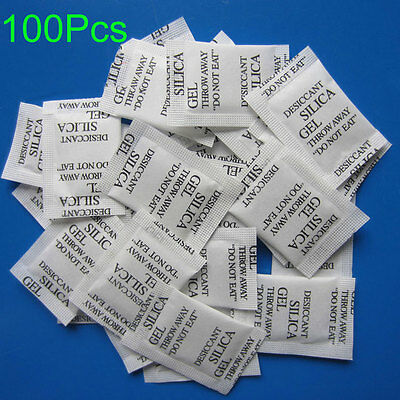 100 X Non-Toxic Silica Gel Packets Moistureproof Moisture Absorber Desiccant