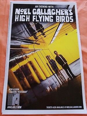 Noel Gallagher 11x17 high flying bird promo concert tour poster oasis lp tickets