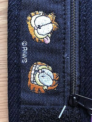 Vintage Black Garfield Wrist Wallet by Mead with Zipper, NEW!