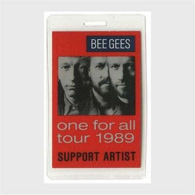 Bee Gees authentic 1989 concert Laminated Backstage Pass One For All Tour
