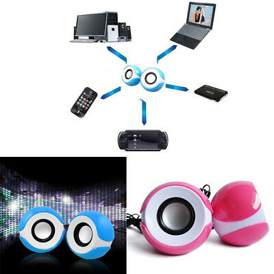 Small USB Powered Mini Speaker Bass Audio for PSP MP3 Phone Computer PC Laptop