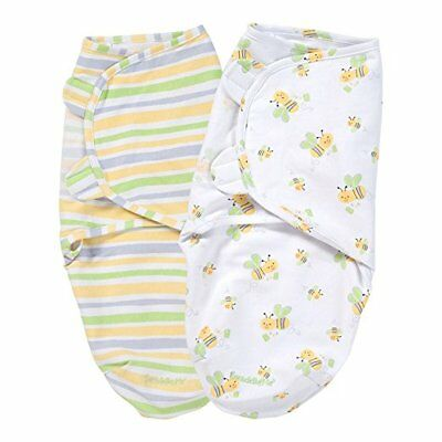 Summer Infant 2-Pk SwaddleMe Adjustable Infant Wrap Small/Medium - Bumble Bees