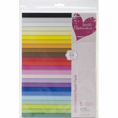 Papermania A4 Coloured Paper, Pack of 48, Multi-Colour
