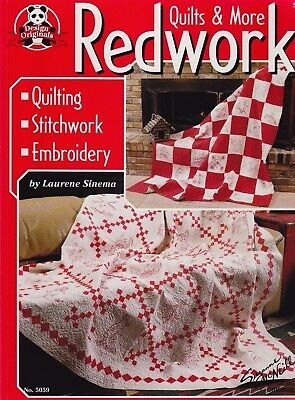 Redwork Quilts & More - wonderful stitchery project book