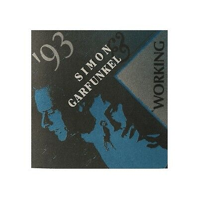Simon & Garfunkel authentic 1993 tour Satin Cloth Backstage Pass original crew