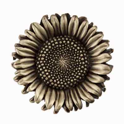 Acorn Manufacturing Artisan Sunflower Knob DQ8AP Antique Brass