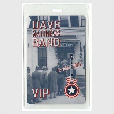 Dave Matthews Band authentic 2004 concert tour Laminated Backstage Pass Vote VIP