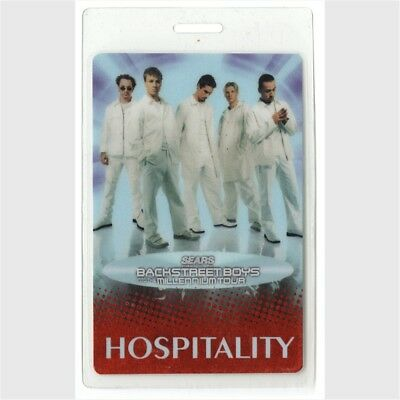 Backstreet Boys authentic 1999 Laminated Backstage Pass Into the Millenium Tour