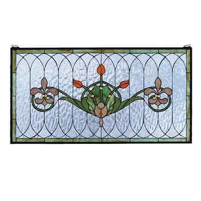 Meyda Tiffany Meyda Tiffany 68018 Tulips Fleurs Window Stained Glass 68018 36-in