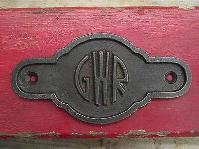 GWR Vintage Style Cast Iron Plaque Sign Totem rail railway industrial train