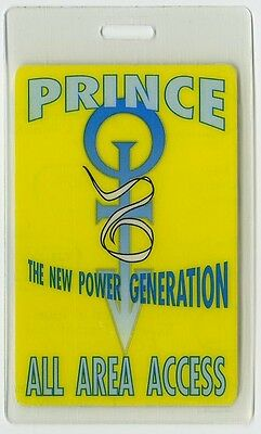 Prince authentic 1993 concert Laminated Backstage Pass Act 1 Tour ALL ACCESS