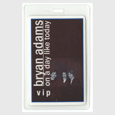 Bryan Adams authentic 1998 Laminated Backstage Pass On a Day Like Today Tour VIP