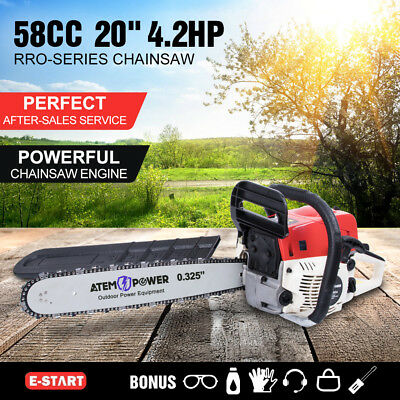 58cc Petrol Commercial Chainsaw 20inch Bar 4.2HP Pruning Chain Saw
