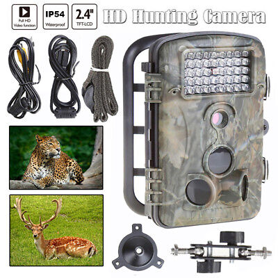 12MP Hunting Camera 1080P HD Infrared Black LOW GLOW Game Trail Cam Night Vision