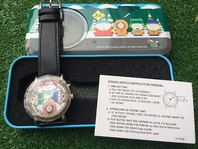 Rare, Fully Working, Vintage South Park Watch..1999 Comedy Central...