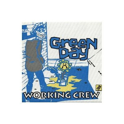 Green Day authentic 1992 Kerplunk Tour satin cloth Backstage Pass crew blue