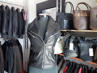 Gilet Chiodo In Vera Pelle Nera Tutte Le Taglie Afpelle Made In Italy