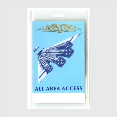 Boston authentic 1986 concert Laminated Backstage Pass Third Stage Tour band AA