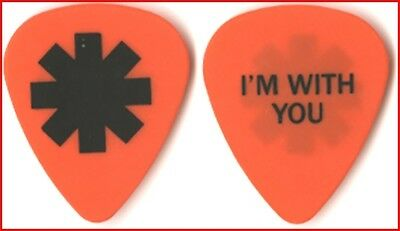 Red Hot Chili Peppers Josh Klinghoffer 2012 tour I'm With You orange Guitar Pick