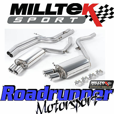 Milltek SSXAU190 Audi S5 4.2 Coupe 07-11 Exhaust System Cat Back Non Res GT80