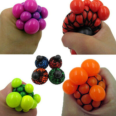 1PC Hot Anti Stress Face Reliever Grape Ball Autism Mood Squeeze Relief Toy GO/-