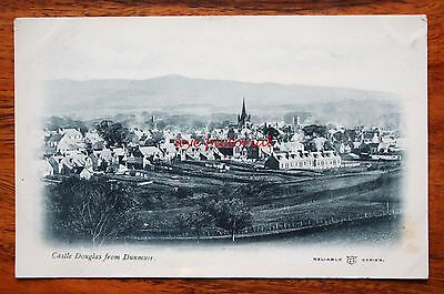 Early Printed  Postcard Scotland Castle Douglas From Dunmuir Reliable Series