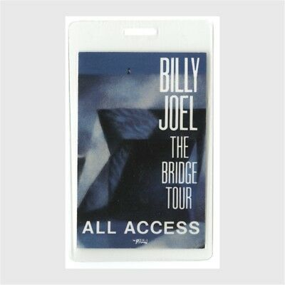Billy Joel authentic 1986 concert Laminated Backstage Pass The Bridge Tour AA