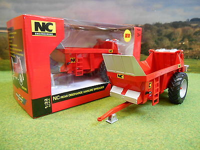 Britains Nc Rear Discharge Manure Muck Spreader 43181 1/32 Brand New