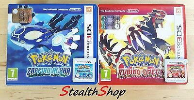 3DS Pokemon Alpha Zaffiro/Sapphire + Omega Rubino/Ruby PAL IT Multilanguage