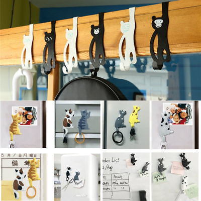 Self Adhesive Sticker Wall Over Door Holder Hook Hanger Refrigerator Magnetic